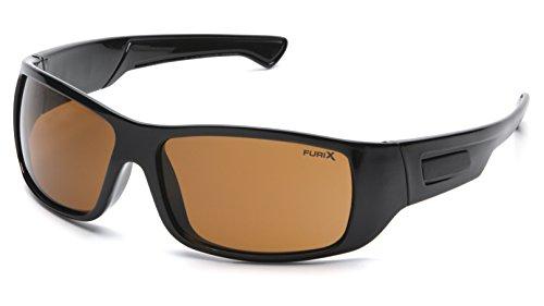 Pyramex Furix Safety Glasses, Black Frame/Coffee - Pyramex Sunglasses
