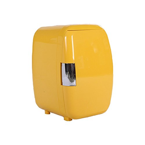 16L/16 Cans Portable Electric Mini Fridge (Yolk Yellow) Compact Fridge, Thermoelectric Cooler and Warmer,Car Refrigerator,Mini Refrigerater for Home,Car, ()