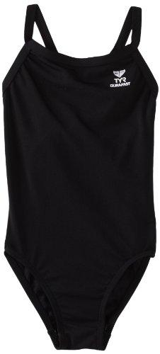 (TYR Sport Women's Solid Durafast Diamondback Swim Suit,Black,32)