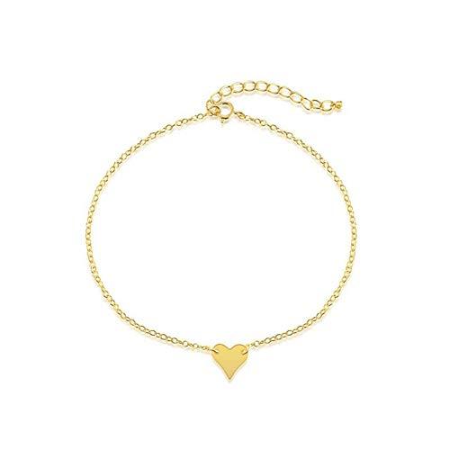 CTRCHUJIAN Beads Geometric Triangular Heart Chain Anklets for Women Girls Fashion Summer Gifts