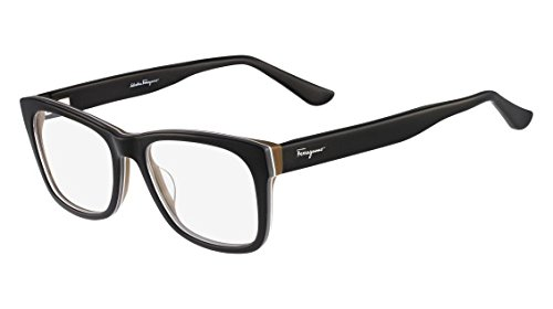 Amazon.com: SALVATORE FERRAGAMO Eyeglasses SF2693 009 Black/Brown ...
