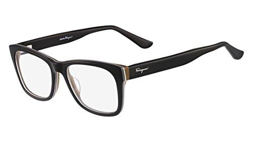Salvatore Ferragamo Glasses (SALVATORE FERRAGAMO Eyeglasses SF2693 009 Black/Brown 55MM)