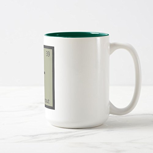 Zazzle Br - Brussels Sprout Vegetable Chemistry Symbol Coffee Mug, Hunter Green Two-Tone Mug 15 oz ()