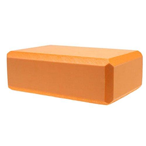 High Density Yoga Block Non-slip Blocks Bricks Yoga Mat Accessory Sports, Orange by Kylin Express