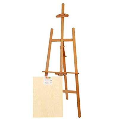 WQE Easel Easel, Wooden Scaffolding, Oil Painting, Advertising Frame, 1.5 m high Double-Sided Magnetic Small Blackboard