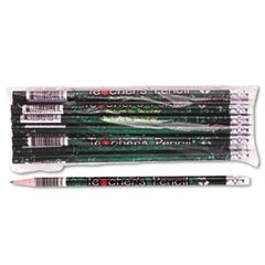 - - Decorated Wood Pencil, Teacher's Pencil, HB #2, Black Brl, Dozen