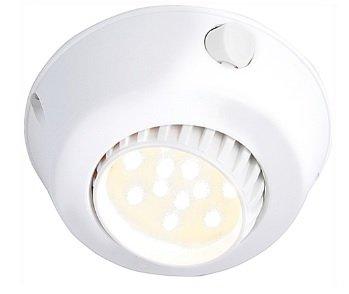 Fixture Surface (Comet 12 Volt LED Adjustable Dome Light (10-30vdc). Plastic Surface Mount with Glass Lens. Choose LED -190 Lumen Cool White, 170 Lumen Warm White, Chrome or White Fixture. (White, Warm White LED))