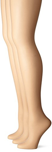 No Nonsense Women's Control Top Pantyhose 3-Pack, Nude, Plus