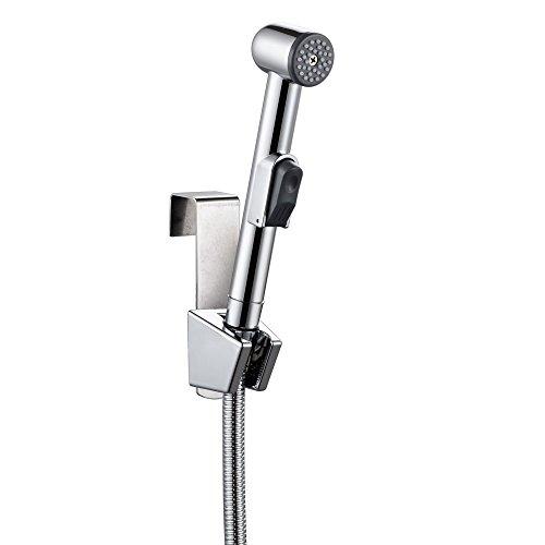BOEN LB981 Toilet Hand Held Bidet Shattaf Cloth Diaper Sprayer with 5 Ft Extra Long Hose and Bracket Holder, Polished Chrome by BOEN