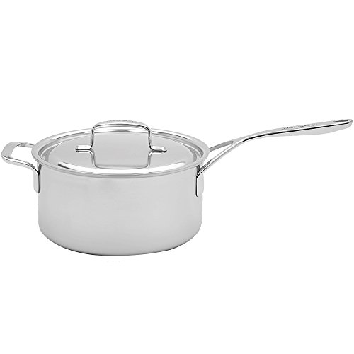 Demeyere 5-Plus Stainless Steel 4-qt Sauce Pan with Helper Handle ()