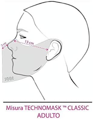 """1208201635 Modello: /"""" Bimbi 4//10 anni NERO//GLITTER/"""" adattabile mascherina lavabile Technomask/™ OBLO/' art sanificabile"""