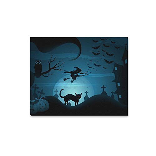 JTMOVING Wall Art Painting Easy Edit Halloween Prints On Canvas The Picture Landscape Pictures Oil for Home Modern Decoration Print Decor for Living Room ()