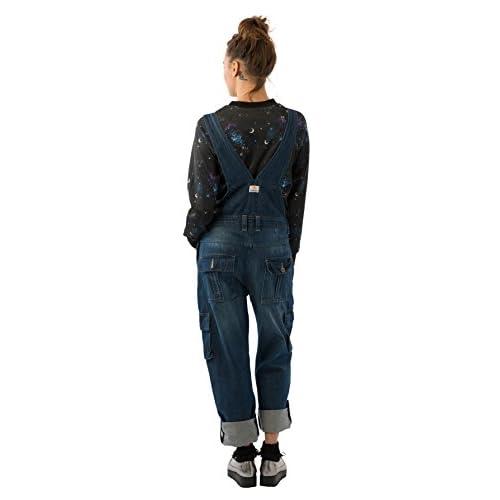 Zimaes-Women Overalls Straight-Fit Palazzo Wide Leg Jeans Bib Pants