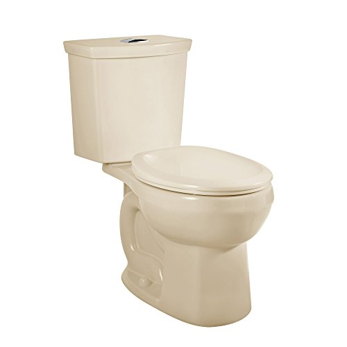 Height Round Toilet - American Standard 2889518.021 H2Option Siphonic Dual Flush Normal Height Round Front Toilet with Liner, Bone, 2-Piece