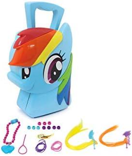 Jamara 410098 Koffer Rainbow Dash-8-Teiliges Spieleset, Coole Trendfrisuren ausprobieren, Stabiler und handlicher Tragekoffer, kindgerechte My Little Pony Design, blau