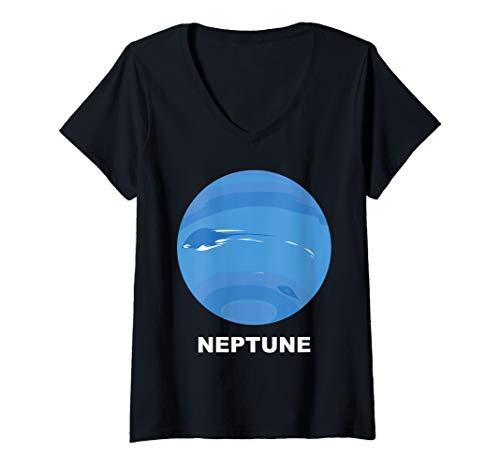 Neptune Costume Ideas (Womens Solar System Group Costumes - Giant Planet Neptune Costume V-Neck)