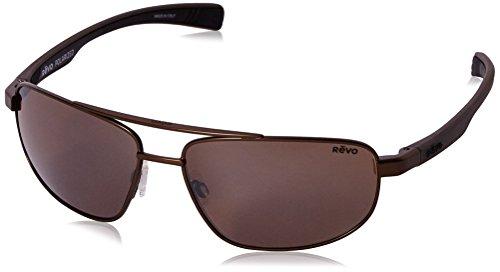d588c6ea8805 Galleon - Revo Wraith RE 1018 Polarized Rectangular Sunglasses ...