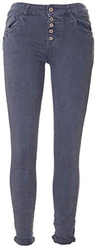 Donna Da Basic de 5 knopf Boyfriend Jeansblau jeans CwIqt