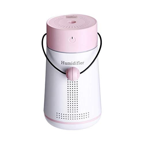 Hli-SHJHsmu Creative 3 In 1 Humidifier LED Humidifier Air Fan Diffuser Purifier Atomizer (Pink)