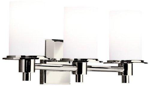 Kichler 5438PN Cylinders Bath 3-Light, Polished Nickel ()
