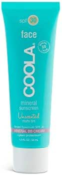 COOLA Mineral Face Matte Tinted Moisturizer | Broad Spectrum SPF 30 | Unscented Facial Sunscreen and Mineral BB Cream | Ultra Lightweight & Sheer, Water Resistant & Reef Safe