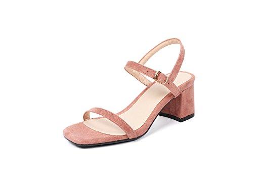 De Femenino Y GAOLIM Simple De Sandalias De Rosa De Hueco Verano Rocío Mujer Zapatos Lazo Versátil Ranurados wg7gXTq