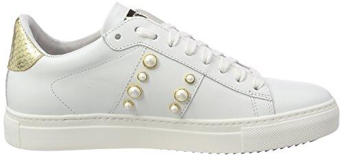 Scarpe Bianco Donna Basse Stokton white Ginnastica Da Sneaker gold z4UZSqv