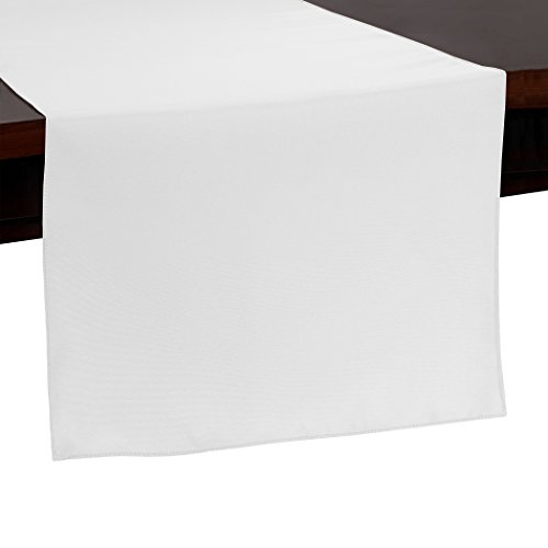 Ultimate Textile -10 Pack- 14 x 108-Inch Polyester Table Runner - for Wedding, Restaurant or Banquet use, White by Ultimate Textile