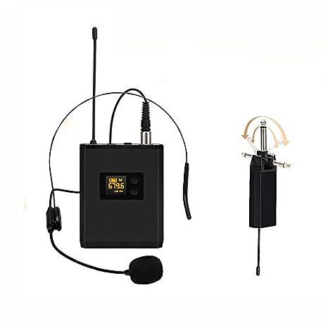 Elikliv Auriculares Inalámbricos Portátiles Sistema de Micrófono de ...