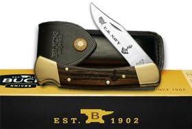 Buck 110 Folding Hunter Navy 1 500 Wood Custom Pocket Knife Knive