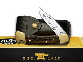 BUCK 110 Folding Hunter Navy 1/500 Wood Custom Pocket Knife Knives