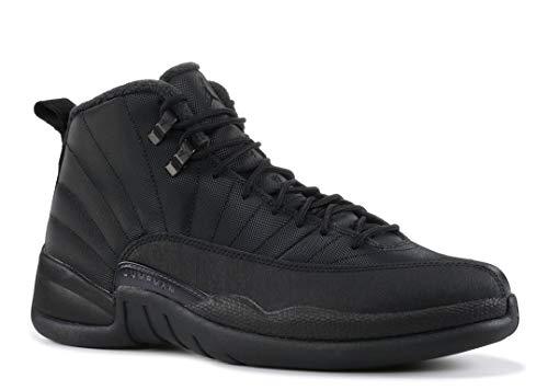 Jordan Men's Air 12 Retro WNTR, Black/Black-Anthracite