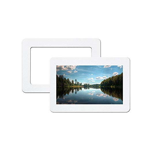 leoyoubei Magnetic Photo Picture Frames and Refrigerator Magnets, Magnetic Picture Collage Frame for Refrigerator,Flexible Crystal photo frame 2 Pack (8x10