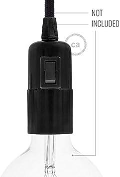 creative cables Kit portal/ámparas de baquelita E27 con Interruptor Blanco