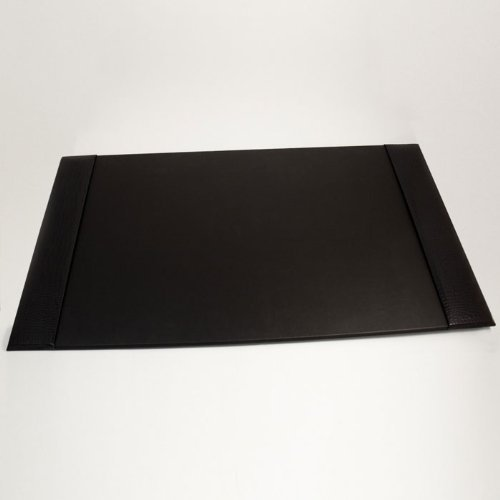 Black Croco Leather Desk Pad by BB