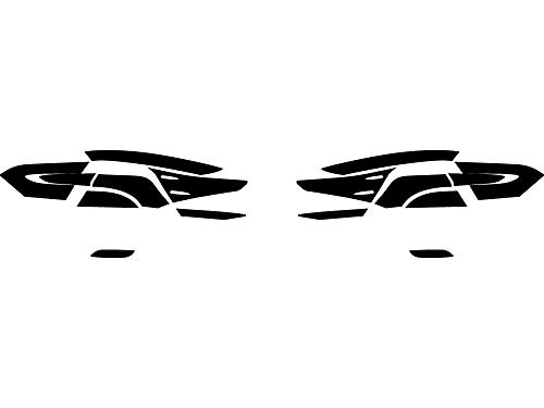 2019 Tail Light Tint - Rtint Tail Light Tint Covers for Toyota Camry 2018-2019 - Blackout Smoke