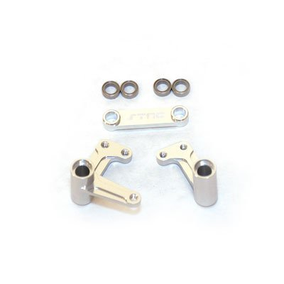 ST Racing Concepts ST3743XS Bell Crank Set with Bearings Slash, Rustler and Bandit (Silver)