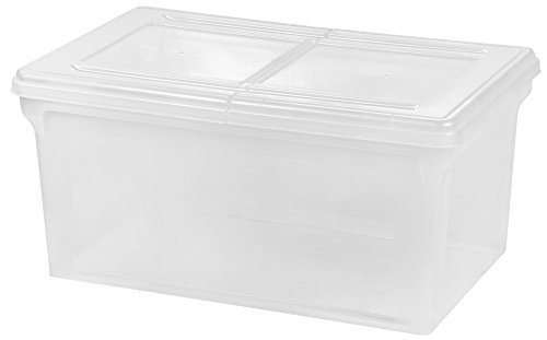 Split Lid - IRIS Split-Lid Letter Size File Box - Set of 2