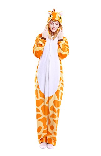 Unisex Adult Animal Cosplay Pajamas Kigurumi Sleepwear Onesies Sleepwear Set (XL(Height:178-188cm/71-74in), Giraffe)