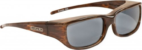 Jonathan Paul® Fitovers Euroka Small Polarized Over Sunglasses ; Brown-Marble & Polarvue - Paul Jonathan Glasses