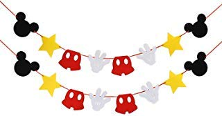 Mickey Mouse Themed Felt Garland Birthday Party Banner Decoration Supplies]()