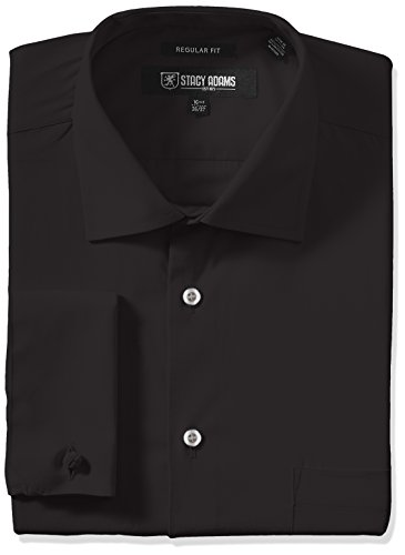 Stacy Adams Men's Big-Tall Adjustable Collar Dress Shirt, Black, 20