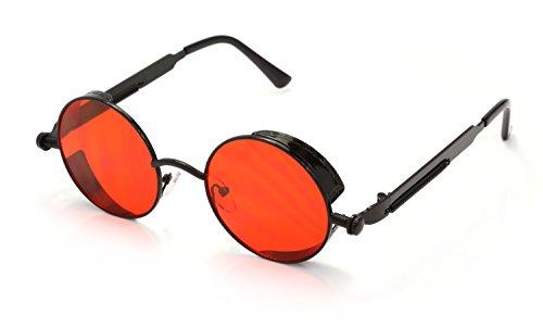 Rojo Rox Negro Ro Hombres de Sol Retro Gafas de Señoras y Steampunk las PRRpd7