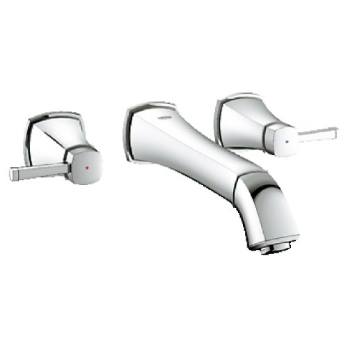 - Grandera 2-Handle 3-Hole Wall Mount Vessel Bathroom Faucet