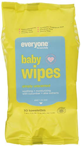 Everyone Baby Wipes Unscented, Chamomile + Aloe, 30 Ea, 30count