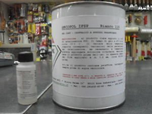Bote de pintura gelcoat parafinado, Gecopol, color blanco 115, de 750 ml +