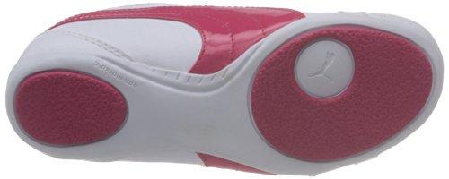 Puma Janine Dance Jr - Zapatillas de material sintético infantil blanco - Weiß (white-virtual pink 08)