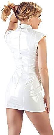Black Level Mini Vestido de Vinilo con Copas Abiertas Falda para ...