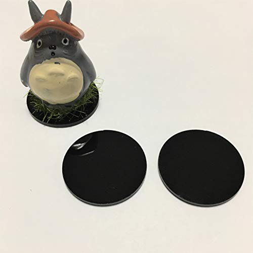 0.5' Display - 20pcs Black Acrylic Round Discs, Plexiglass Laser Cut Round Circle 1/8'', Mini Acrylic Display Discs (Black, Dia 0.5'')