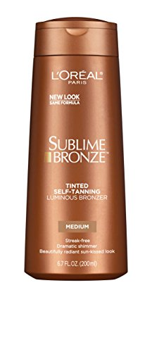 Radiant Self Tanner - L'Oreal Paris Sublime Bronze Luminous Bronzer Self-Tanning Lotion, 6.7 oz.